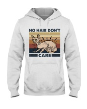 No Hair Do Not Care Hooded Sweatshirt front