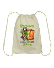 Gardening Because Murder Is Wrong Drawstring Bag thumbnail