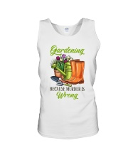 Gardening Because Murder Is Wrong Unisex Tank thumbnail