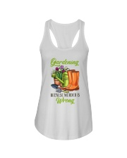 Gardening Because Murder Is Wrong Ladies Flowy Tank thumbnail