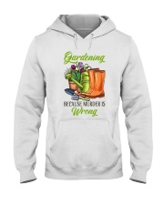Gardening Because Murder Is Wrong Hooded Sweatshirt thumbnail