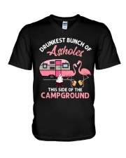 Drunkest Bunch Of Assholes V-Neck T-Shirt thumbnail