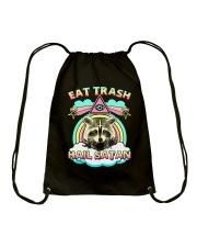 Eat Trash Drawstring Bag thumbnail