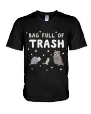 Bag Full Of Trash V-Neck T-Shirt thumbnail