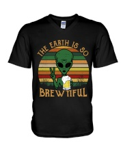 The Earth Is So Brewtiful V-Neck T-Shirt thumbnail