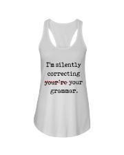 I Am Silently Correcting Ladies Flowy Tank thumbnail