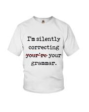 I Am Silently Correcting Youth T-Shirt thumbnail