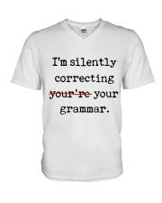 I Am Silently Correcting V-Neck T-Shirt thumbnail