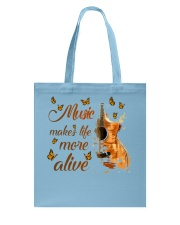 Music Makes Life More Alive Tote Bag tile