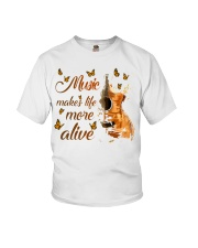 Music Makes Life More Alive Youth T-Shirt thumbnail