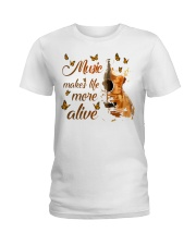 Music Makes Life More Alive Ladies T-Shirt thumbnail
