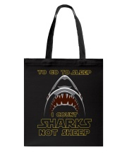 I Count Shark Not Sheep Tote Bag tile