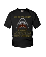 I Count Shark Not Sheep Youth T-Shirt tile