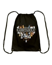 Im A Rabbitaholic Drawstring Bag thumbnail