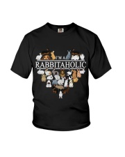 Im A Rabbitaholic Youth T-Shirt thumbnail