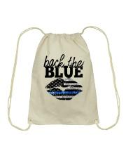 Back The Blue Drawstring Bag thumbnail