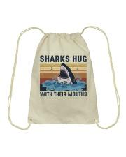 Sharks Hug With Their Mouths Drawstring Bag thumbnail