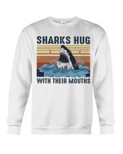 Sharks Hug With Their Mouths Crewneck Sweatshirt thumbnail