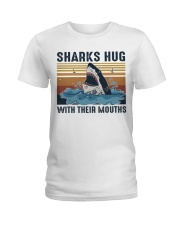 Sharks Hug With Their Mouths Ladies T-Shirt thumbnail
