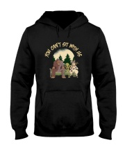 You Can Not Sit Hooded Sweatshirt thumbnail