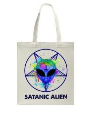 Satanic Alien Tote Bag thumbnail