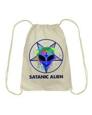 Satanic Alien Drawstring Bag thumbnail