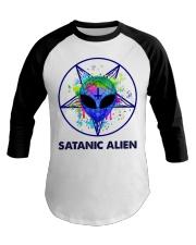 Satanic Alien Baseball Tee thumbnail