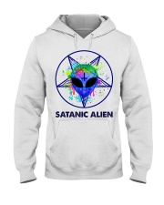 Satanic Alien Hooded Sweatshirt thumbnail