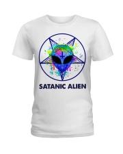 Satanic Alien Ladies T-Shirt thumbnail