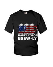 Happy Four Of July Youth T-Shirt thumbnail