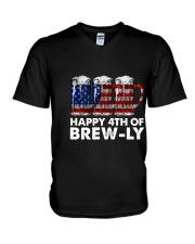 Happy Four Of July V-Neck T-Shirt thumbnail
