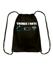 Things I Hate Drawstring Bag thumbnail