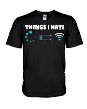 Things I Hate V-Neck T-Shirt thumbnail