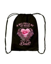 My Dad Is An Angel In Heaven Drawstring Bag thumbnail