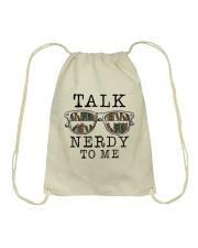 Talk Nerdy To Me Drawstring Bag thumbnail