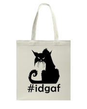 Cat IDGAF Tote Bag thumbnail