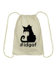 Cat IDGAF Drawstring Bag thumbnail