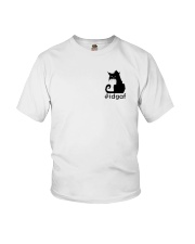 Cat IDGAF Youth T-Shirt thumbnail