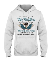 He Will Cover You Hooded Sweatshirt front