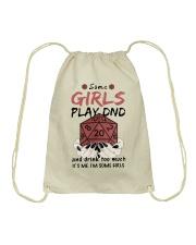 Some Girls Play Dnd Drawstring Bag thumbnail