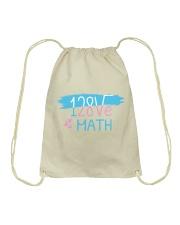 I Love Math  Drawstring Bag thumbnail