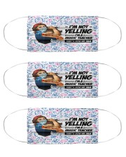 music teacher not yelling mas Cloth Face Mask - 3 Pack front