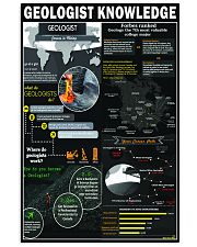 Geologist knowledge 24x36 Poster front