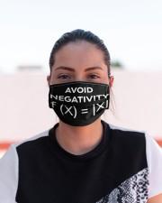 avoid negativity funny math mas  Cloth Face Mask - 3 Pack aos-face-mask-lifestyle-03