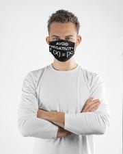 avoid negativity funny math mas  Cloth Face Mask - 3 Pack aos-face-mask-lifestyle-14