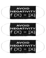 avoid negativity funny math mas  Cloth Face Mask - 3 Pack front