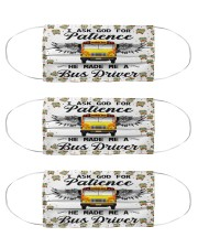 bus driver god patience mas  Cloth Face Mask - 3 Pack front