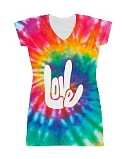 love sign language hippie All-over Dress thumbnail