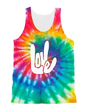 love sign language hippie All-over Unisex Tank thumbnail