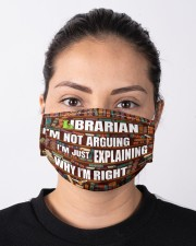 librarian I'm not arguing mas  Cloth Face Mask - 3 Pack aos-face-mask-lifestyle-01